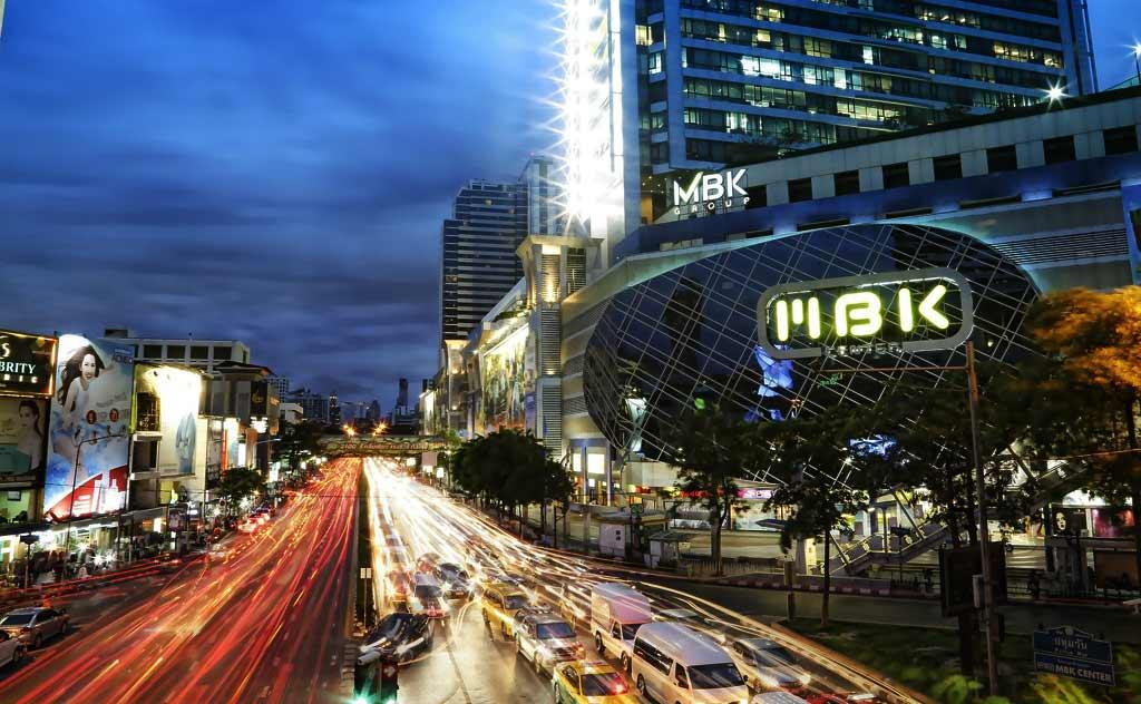 Night View of MBK Mall, Bangkok