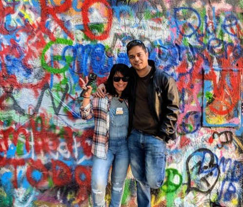 Live to Travel - Lennon Wall, Prague