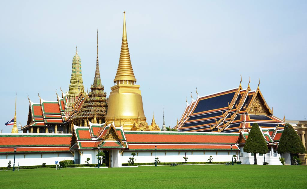 Wat Phra Kaew (Temple of The Emerald Buddha) as seen from the Grand Palace compound