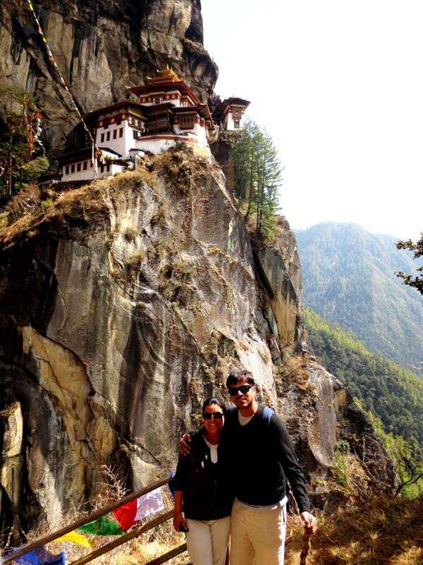 Paul & Mona at Tiger's Nest, Bhutan
