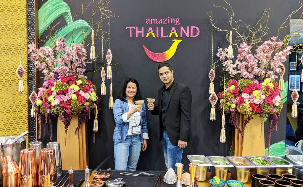 Promoting our Thailand blog - Toast to Thailand - at World Travel Market Conference, London