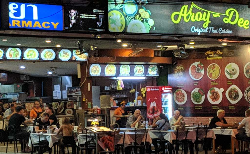 Restaurant with Aroy (Thai for delicious food) in its name