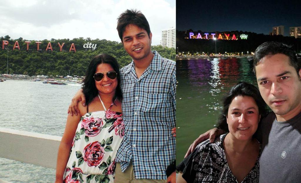 Mona & Paul in Pattaya in 2009 & 2019