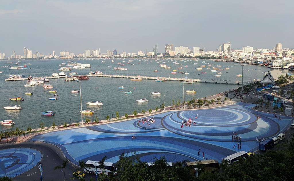 Panoramic view of Pattaya City from Pattaya City Sign Viewpoint