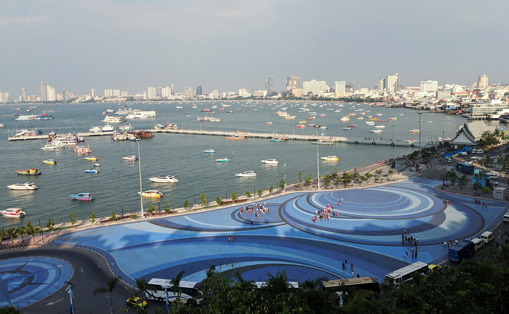 Panoramic view of Pattaya City from Pattaya City Sign Viewpoint
