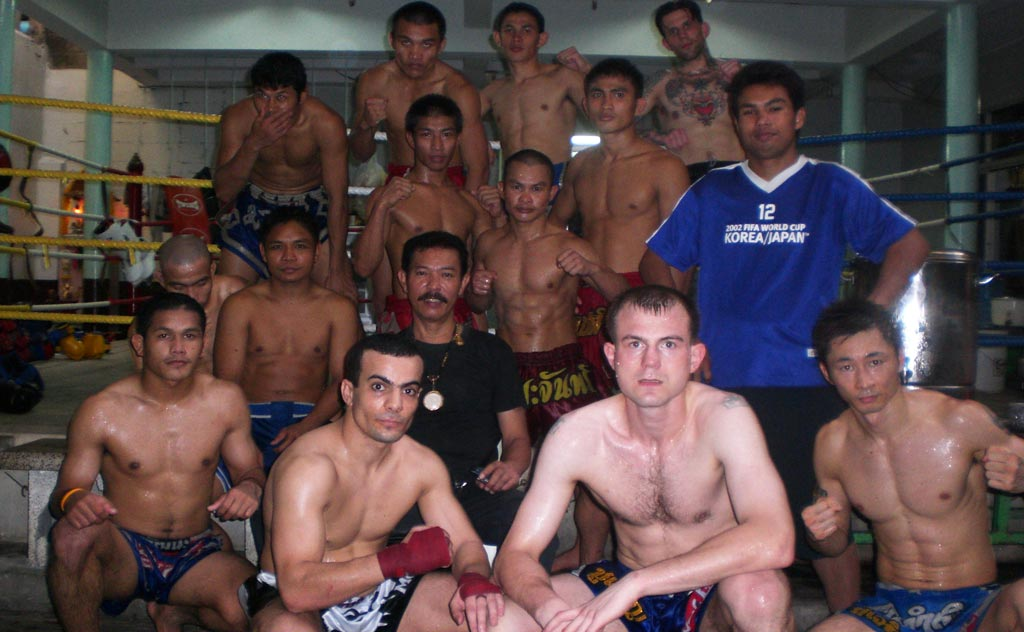 Thai boxers at Chuwattana Gym in Bangkok