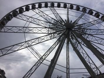 Budapest Eye, a ferris wheel on Erzsebet Square in Pest.