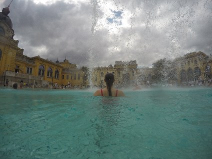 One of Szechenyi Baths outside pools.
