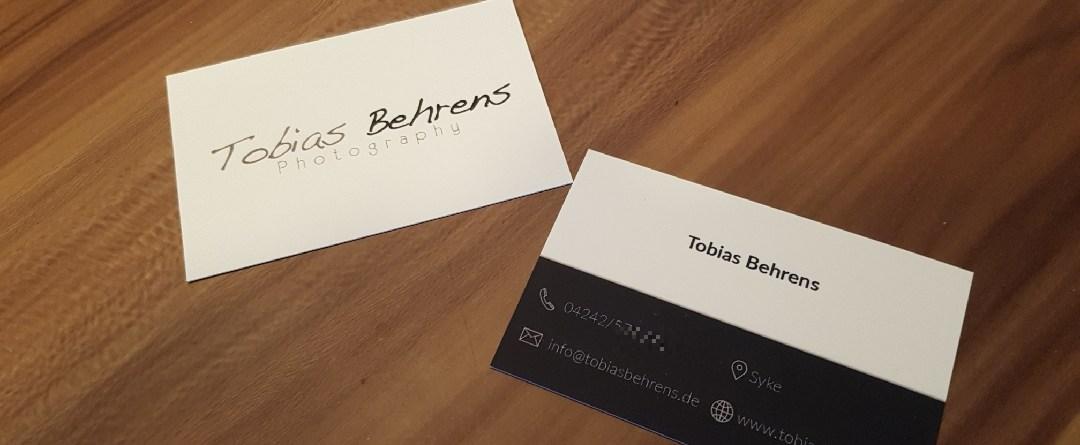 Neue Visitenkarten Von Moo Com Tobias Behrens Photography