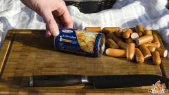 Hot Dog Pfanne vom Grill