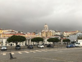 View of Lisbon from the bank of the river Tagus