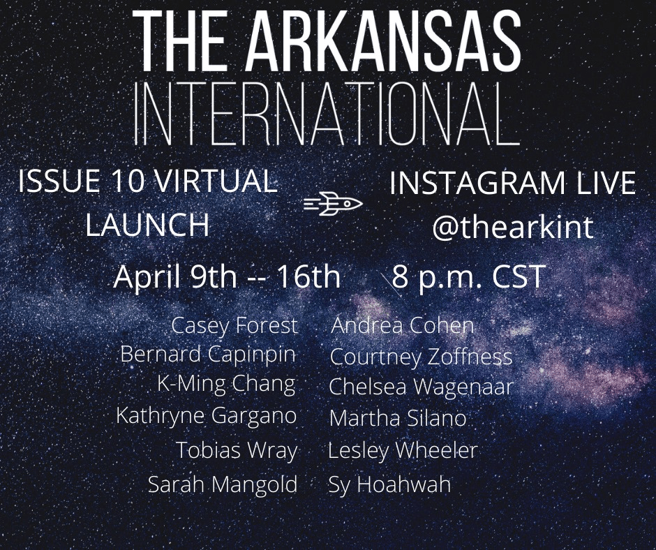 Tobias Wray is honored to read for The Arkansas International Issue 10 Launch