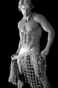 man in net