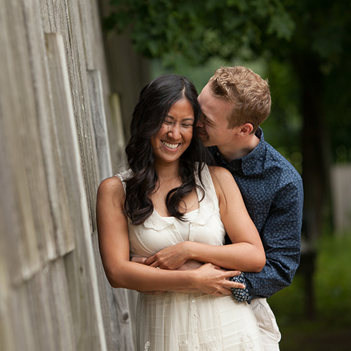 Melissa and Jason's Engagement Sweetness in Boxford, Mass