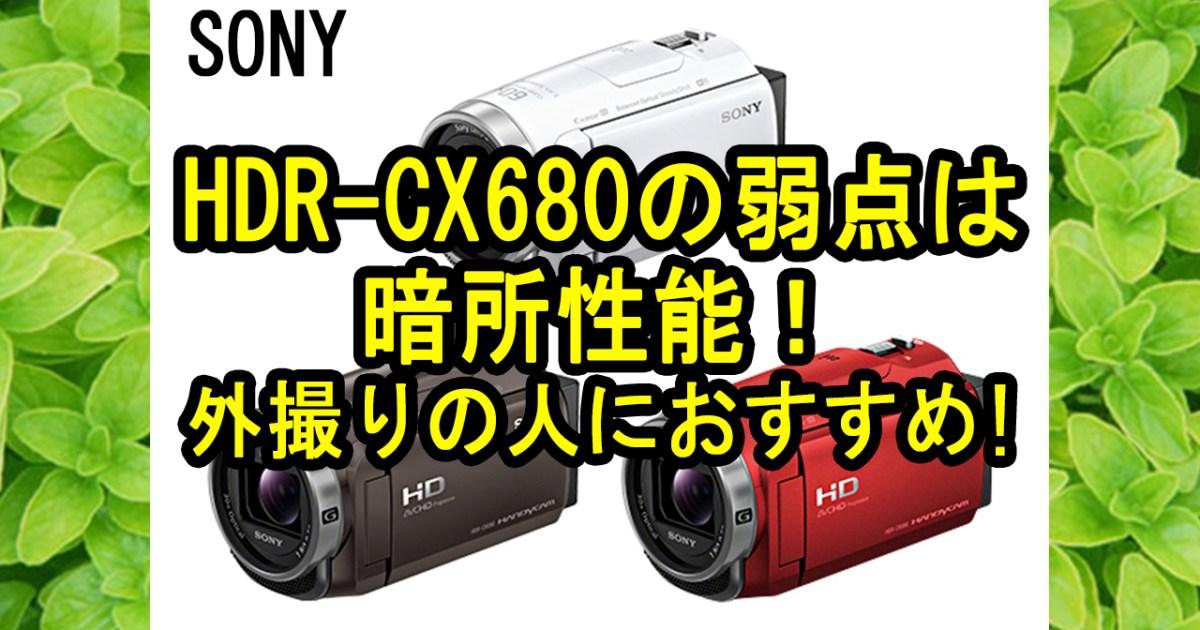 HDR-CX680の暗所性能が残念すぎた。外撮りにおすすめのビデオカメラ【SONY】