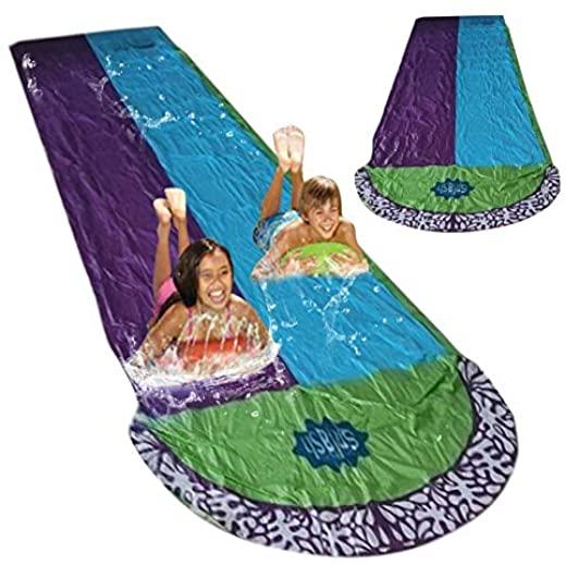 double toboggan double eau piscine jet