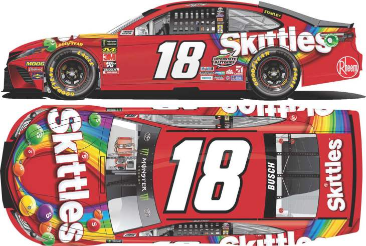 New Paint Scheme: MENCS No  18 Joe Gibbs Racing Kyle Busch