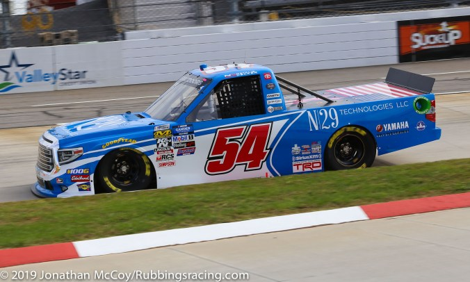 Natalie Decker's No. 54 N29 Technologies Toyota Tundra (Photo Credit: Jonathan McCoy / RubbingsRacing.com)