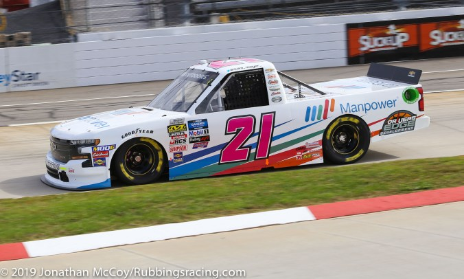Sam Mayer's No. 21 Manpower Chevrolet Silverado (Photo Credit: Jonathan McCoy / RubbingsRacing.com)