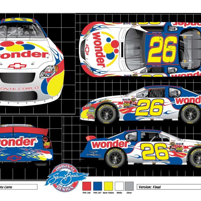 Ricky Bobby's No. 26 Wonderbread Chevrolet (PC : Sam Bass)