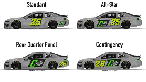 Number placement concepts for the Cup Series (Template by Josh Lunt)
