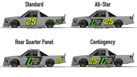Number placement concepts for the Camping World Truck Series (Template by Josh Lunt)