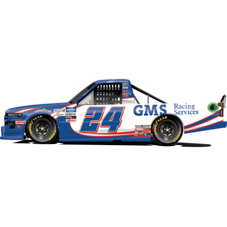 Greg Biffle's No. 24 GMS Racing / Ricky Hendrick Throwback Silverado (PC : Dick Claveloux)