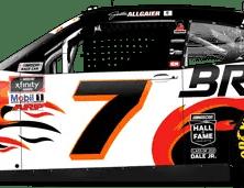 Justin Allgaier's No. 7 Brandt / DMP Throwback (PC : Ryan Williams)