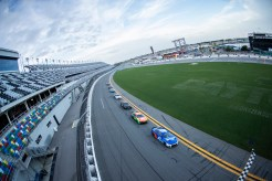 DAYTONA BEACH, FLORIDA - SEPTEMBER 07: Ricky Stenhouse Jr., Driver of the #47 NASCAR Next Gen car and William Byron, Driver of the #24, lead the field during the NASCAR Cup Series test at Daytona International Speedway on September 07, 2021 in Daytona Beach, Florida. (Photo by James Gilbert/Getty Images)