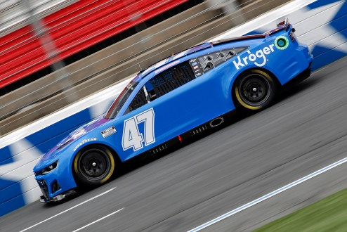 CONCORD, NORTH CAROLINA - OCTOBER 11: Ricky Stenhouse Jr., driver of the #47 Next Gen car drives during the NASCAR Cup Series test at the Charlotte Motor Speedway on October 11, 2021 in Concord, North Carolina. (Photo by Bob Leverone/Getty Images)