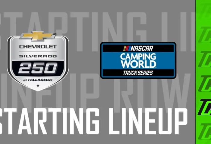 chevrolet 250 starting lineup