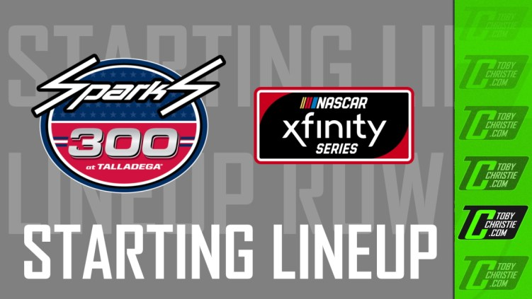spark 300 starting lineup