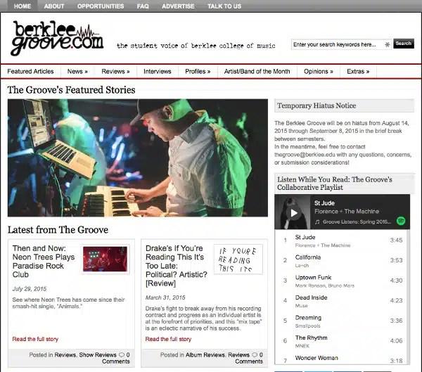 Berklee College of Music, Berklee Groove, screenshot, Toby Elwin, Zac Taylor, Paul Jefferson