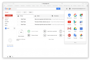 Once in Gmail Go To YouTube