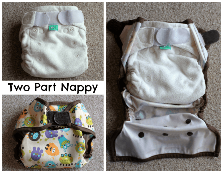 Choosing the right cloth nappy - two part nappy