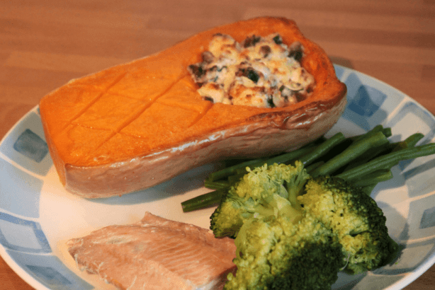 butternut squash and salmon