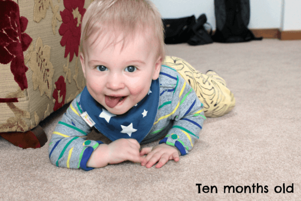 ten months old cheeky