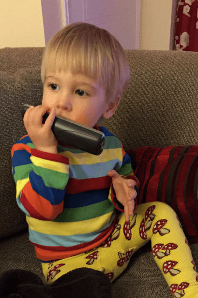 18 months old on the phone