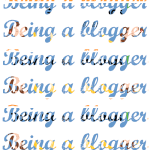 Being a blogger…