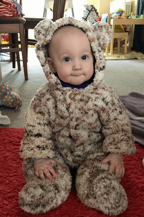 Seven month old teddy bear