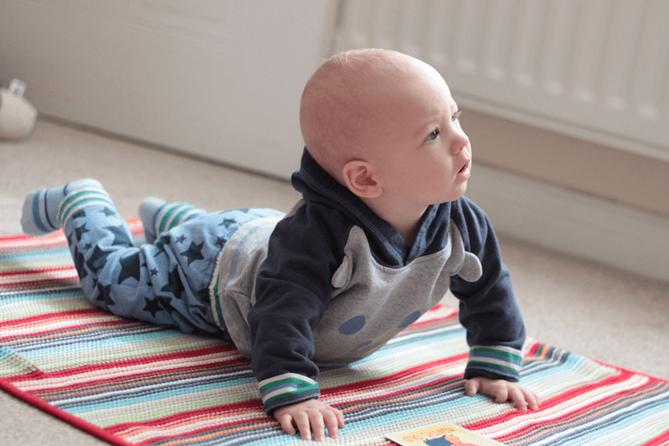 Gabe is getting close to crawling