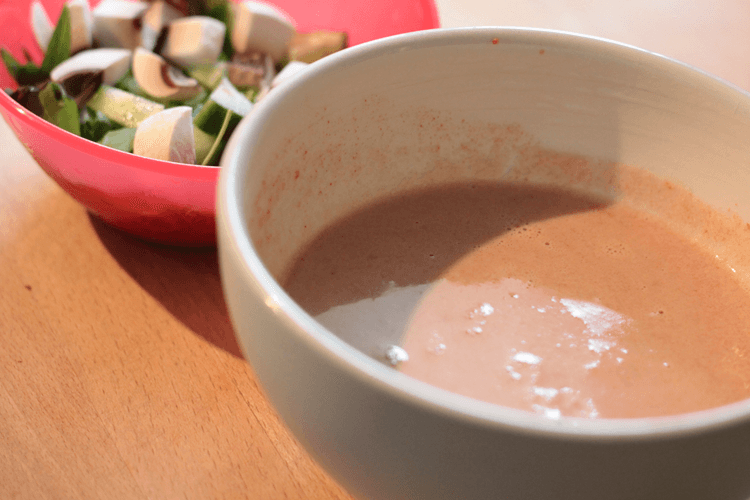 Certaslim tomato soup and side salad