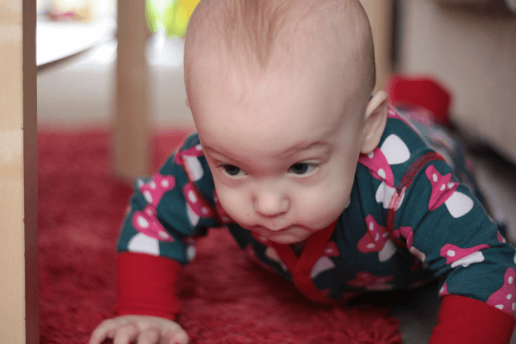 Crawling takes concentration