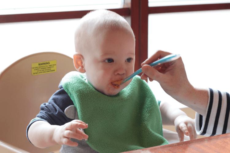Gabe enjoying lunch