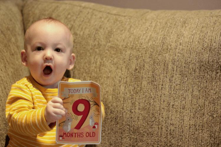 Gabriel is nine months old