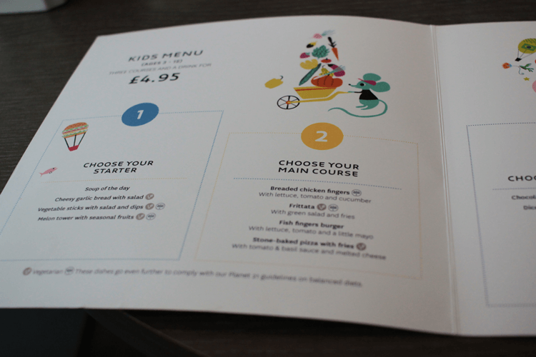 Novotel Kids menu