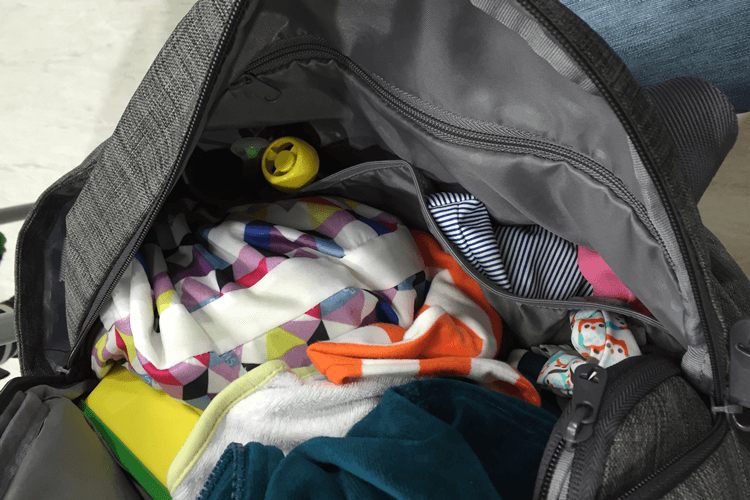 Voyage changing bag packed for two kids