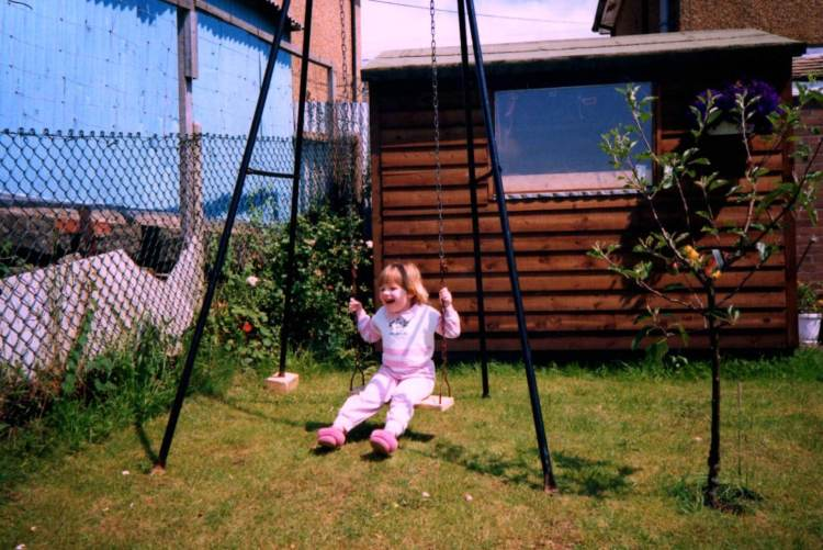 Baba a Fi - Jess on the swing