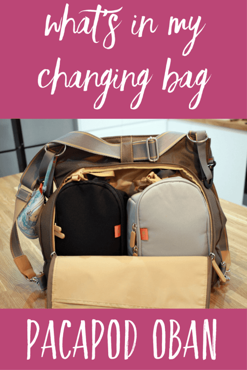 What's in my changing bag - inside the Pacapod Oban