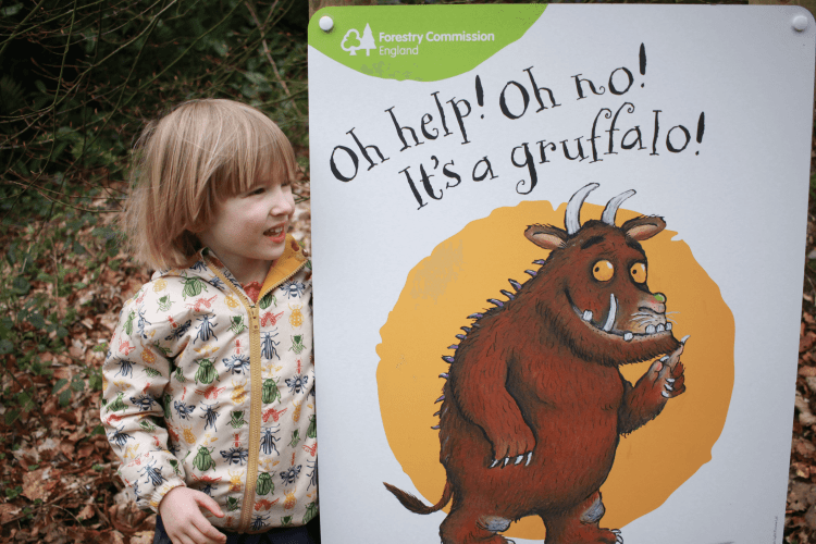 Toby found the Gruffalo at Grizedale